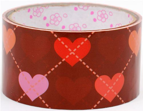 cute big red Deco Tape with hearts