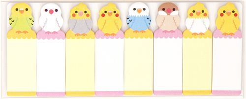 cute bookmark stickers budgie Post-it
