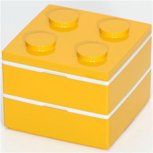 funny yellow brick Bento Box from Japan