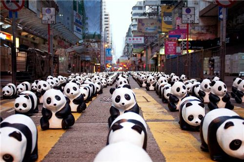 1600 Pandas on the streets of Hong Kong