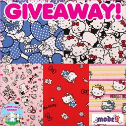 Super Cute Kawaii Hello Kitty Fabric Giveaway, ends May 5th, 2015