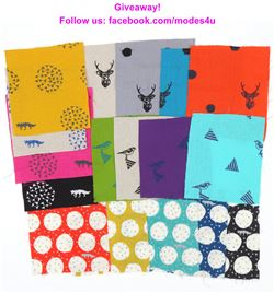 modes4u echino Fabric Bundle Giveaway, ends August 28th, 2017