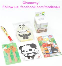 modes4u Colorful Stationery Giveaway, ends January 15th, 2018