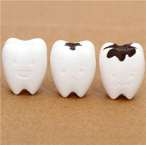 white teeth eraser from Japan by Iwako