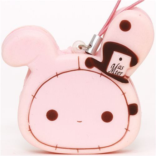 pink Sentimental Circus rabbit squishy cellphone charm