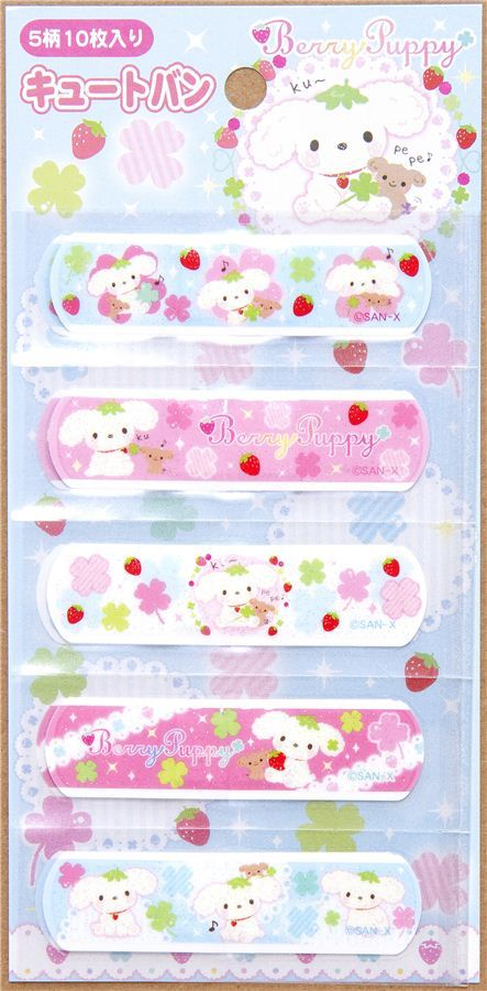 Berry Puppy dog glitter Bandage Band-Aid 10 pcs