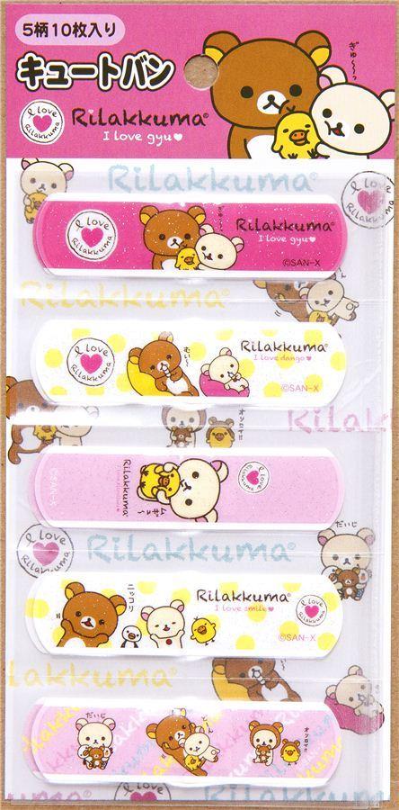 Rilakkuma glitter Bandage Band-Aid 10 pcs bear & chick