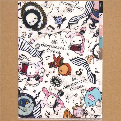 Sentimental Circus 5-pocket A4 file folder instruments