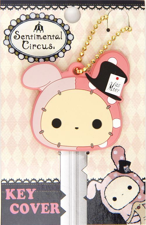 Sentimental Circus bunny key cover charm