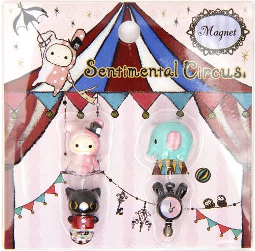 kawaii Sentimental Circus magnets by San-X
