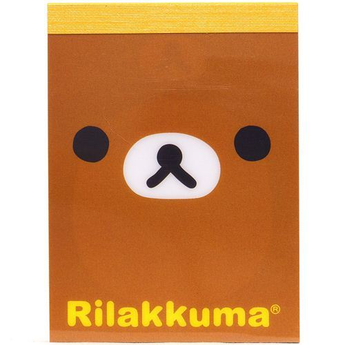 mini Memo Pad Rilakkuma bear face by San-X