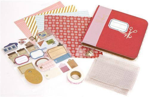 Scrapbooking kit from Japan with golden scissors