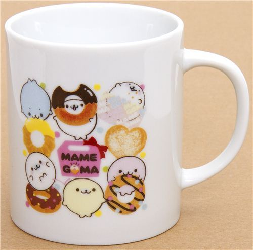 Mamegoma baby seals cup with towel donuts