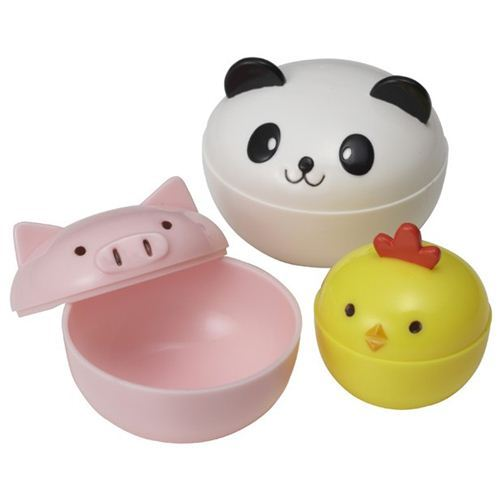 cute panda chick pig mini sauce containers for Bento Box