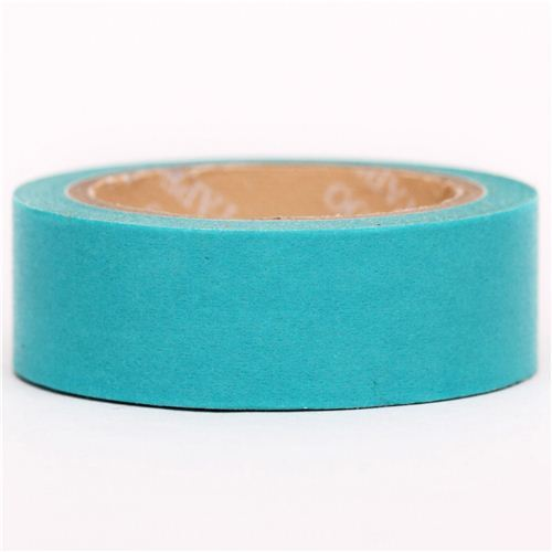 solid Tiffany blue Washi Masking Tape deco tape