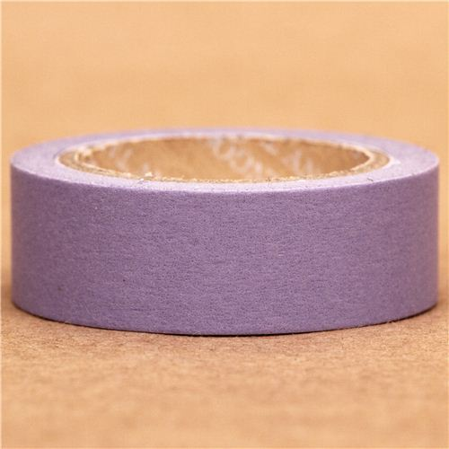 solid lilac Washi Masking Tape deco tape