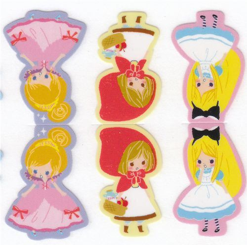 bookmark stickers fairy tale  Alice princess
