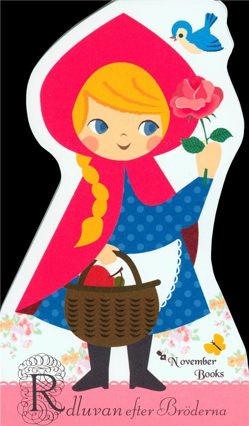 Little Red Riding Hood die-cut memo pad from Japan