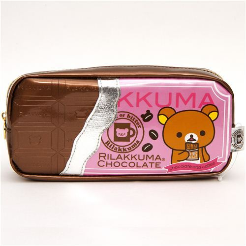 Rilakkuma pencil case with chocolate coffee embossment