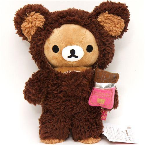 Rilakkuma plush toy brown bear chocolate suit