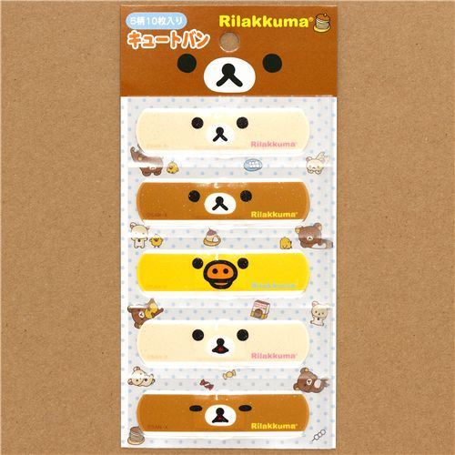 cute Rilakkuma bear Bandage Band-Aid 10 pieces