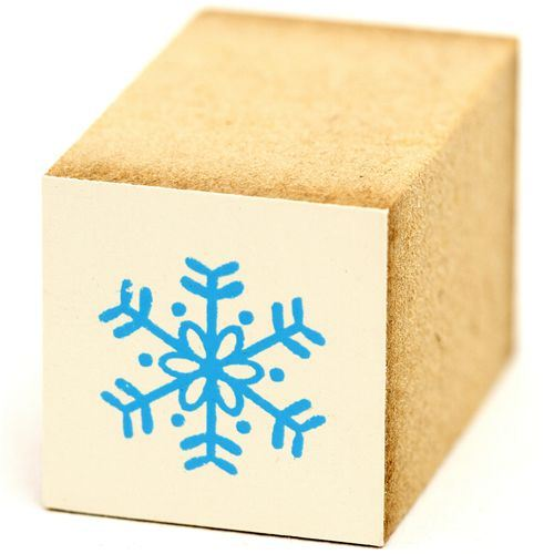 cute small snowflake wooden stamp Christmas