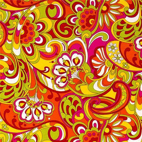 colourful Michael Miller fabric Russian Floral  flowers
