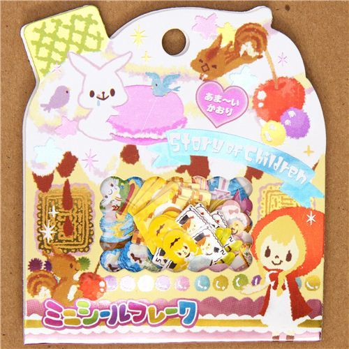 cute fairy tale sticker sack with animals