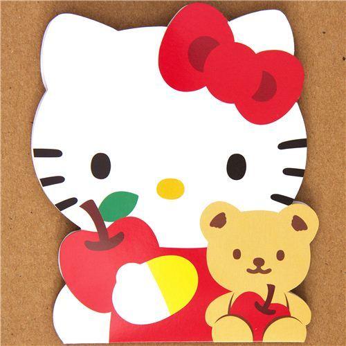 kawaii Hello Kitty sticker sack apples bear