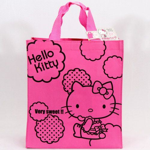small pink Hello Kitty cotton bag from Japan