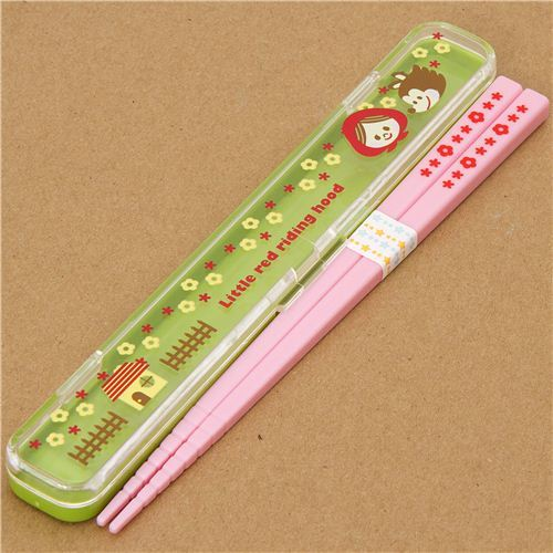 Little Red Riding Hood Bento Chopsticks pink kawaii