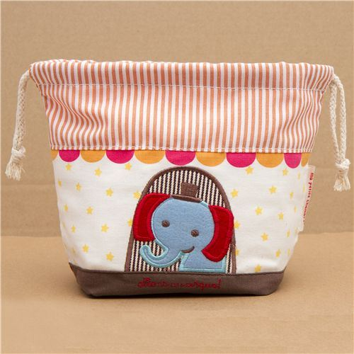 circus elephant fabric thermo lunch bag for bento boxes