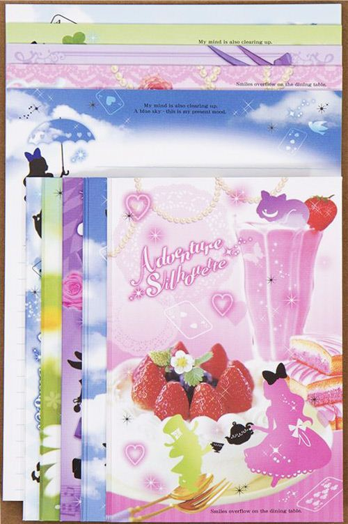 colourful Alice in Wonderland Letter Set fairy tale