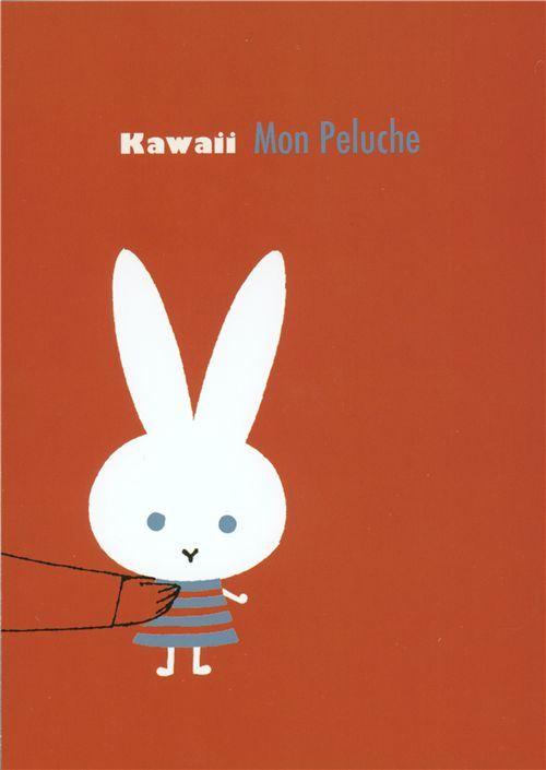 cute Shinzi Katoh postcard kawaii bunny