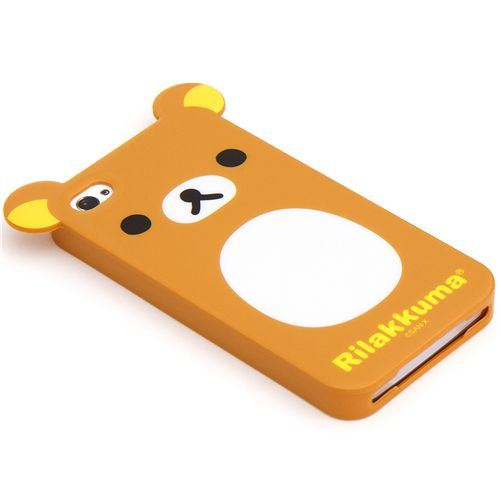 Rilakkuma bear with ears iPhone 4 4S silicone soft case