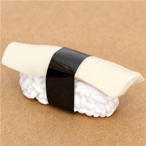 Cuttlefish Sushi eraser from Japan by Iwako