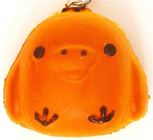 Kiiroitori chick bread squishy cellphone charm