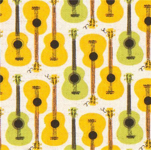Heather Ross canvas fabric guitars Far Far Away 3