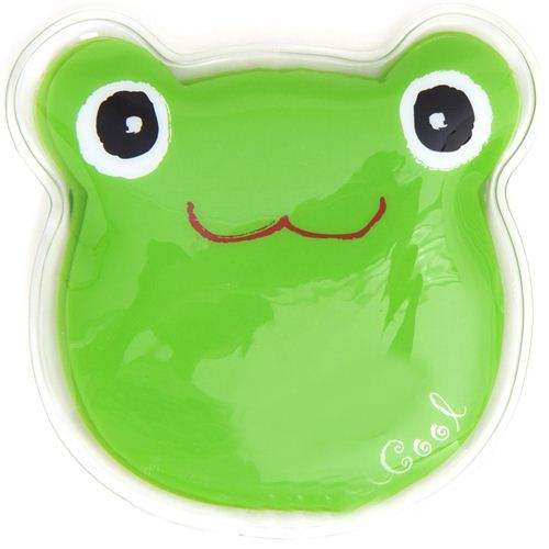 green frog face cooling gel pad from Japan