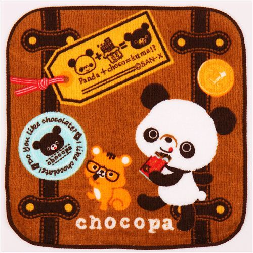 brown Chocopa panda bear suitcase towel from Japan