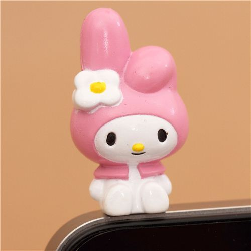pink My Melody bunny mobile phone plugy earphone jack