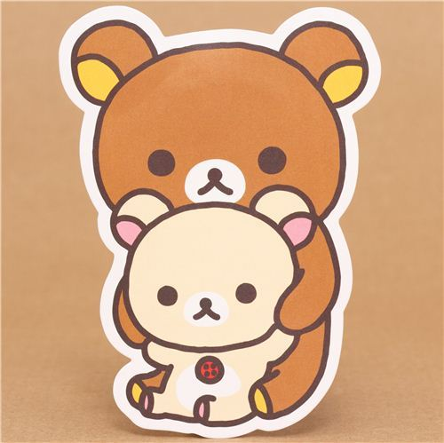 Rilakkuma brown and white bear mini envelopes San-X