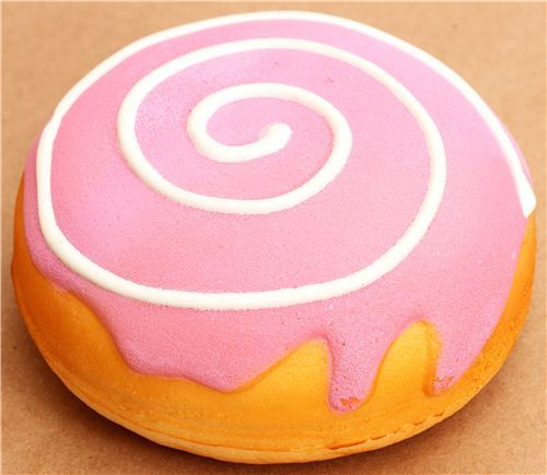 big pink donut bun scented squishy wrist rest