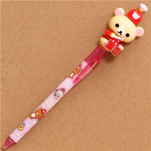 pink Rilakkuma Wonderland ballpoint pen movable figure