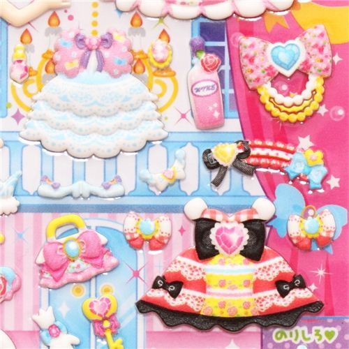princess girl dress up doll 3D magic stickers