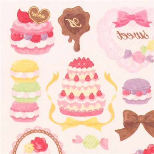 sweets macaron cake temporay tattoo stickers from Japan