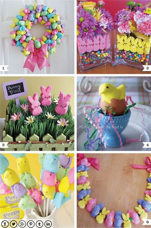 These super cute bunny and chicks  marshmallow decorations can be used in so many ways.