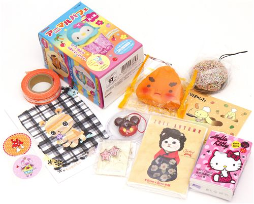 kawaii Giveaway package No.3 with japanese penguin container