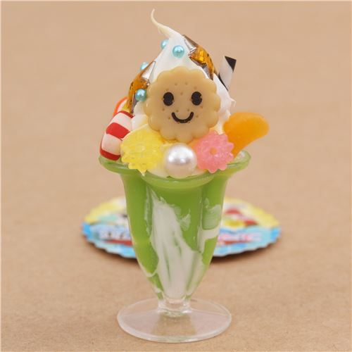 green vanilla ice cream fruit biscuit parfait figure from Japan