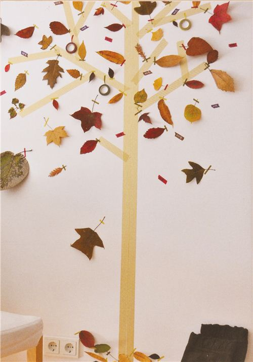 Make your own Masking Tape autumn tree at home
